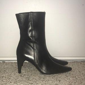 Vintage Banana Republic Black Calf Pointed Boot